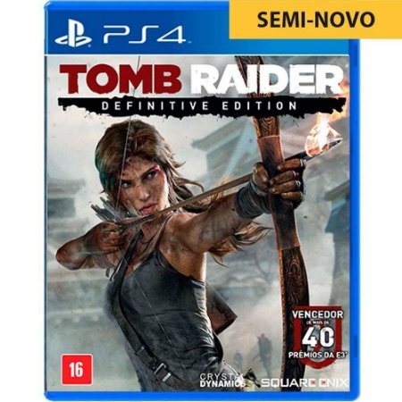 Jogo Tomb Raider Definitive Edition - PS4 (Seminovo)