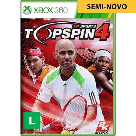 Jogo Top Spin 4 - Xbox 360 (Seminovo)