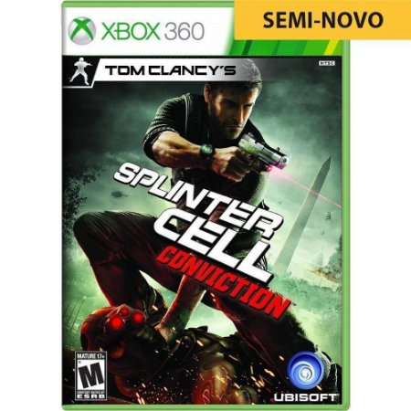 Jogo Splinter Cell Conviction - Xbox 360 (Seminovo)