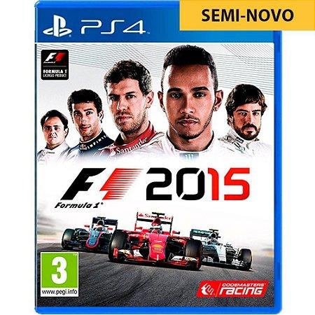 Jogo F1 2015 - PS4 (Seminovo)