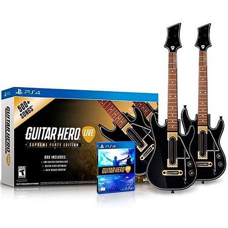 Jogo Guitar Hero Live 2 Guitarras - PS4