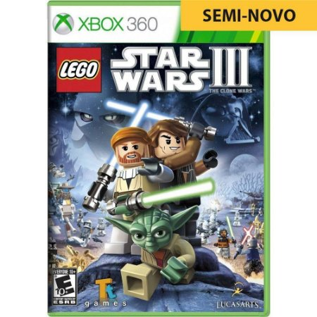 Jogo LEGO Star Wars III The Clone Wars - Xbox 360 (Seminovo)