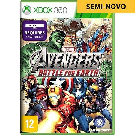 Jogo Marvel Avengers Battle Earth Kinect - Xbox 360 (Seminovo)
