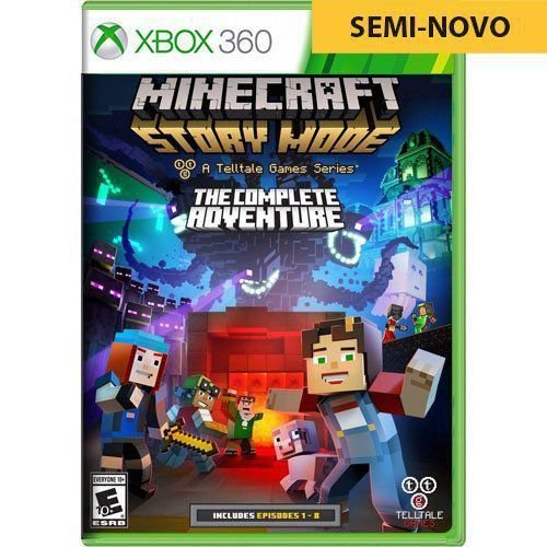 Jogo Minecraft Story Mode The Complete Adventure - Xbox 360 (Seminovo)