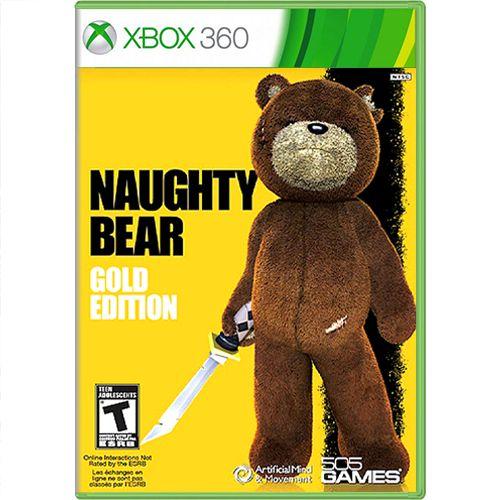 Jogo Naughty Bear Gold Edition - Xbox 360 (Seminovo)