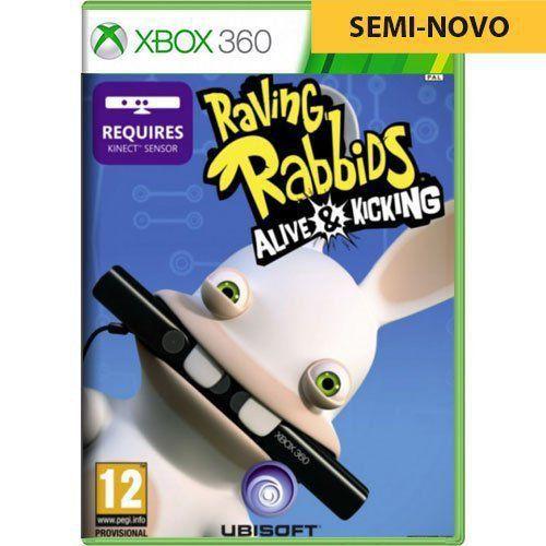 Jogo Raving Rabbids Alive Kicking - Xbox 360 (Seminovo)