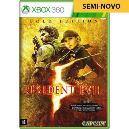 Jogo Resident Evil 5 Gold Edition - Xbox 360 (Seminovo)