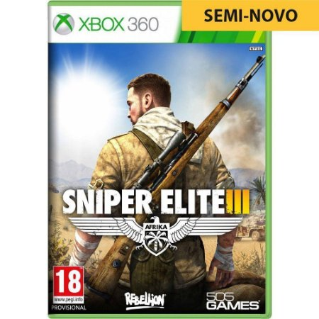 Jogo Sniper Elite III - Xbox 360 (Seminovo)