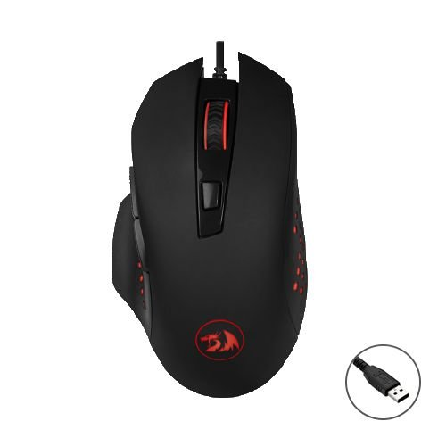 Mouse Gamer Redragon Solid Gainer M610 6 Botões USB