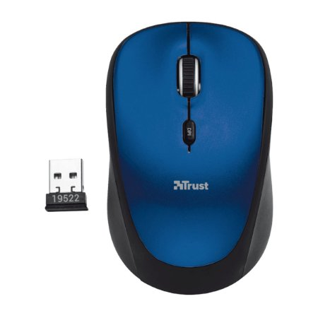 Mouse Trust Yvi Wireless 800/1600 DPI Azul
