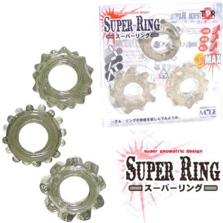 Anel Peniano Kit 03 Super Ring Boss em Silicone