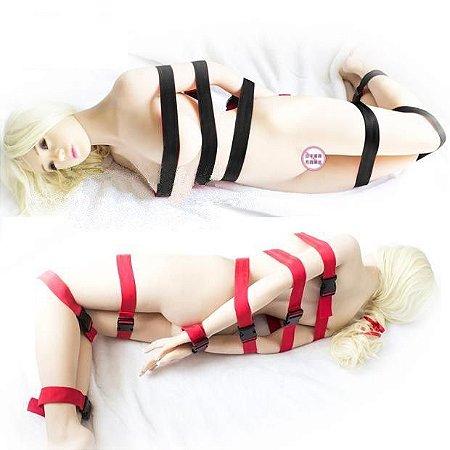 7 Amarras Straps Bondage Restraint Cinto de Corpo Inteiro - Sex shop