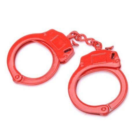 Algemas de metal cor vermelha com destravamento de segurança - Sexshop