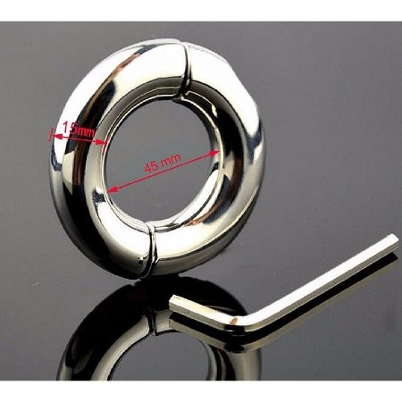 Anel Peniano Metálico Pênis Ring - Diametro de 4,5cm - Sex shop