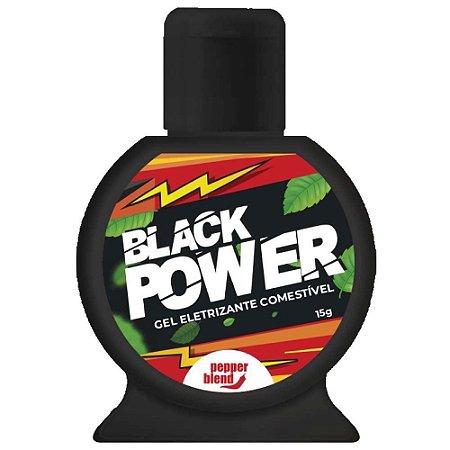 Black Power Gel Eletrizante 15g Pepper Blend - Sex Shop