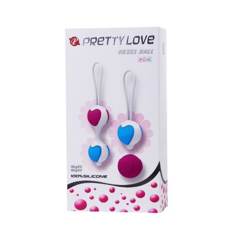 Bola pompoar Kegel dupla Pretty Love Kegel Ball - Sexshop