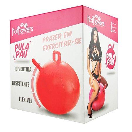 Bola Pula Pula Vermelha com Pênis realista Hot Flowers - Sex shop