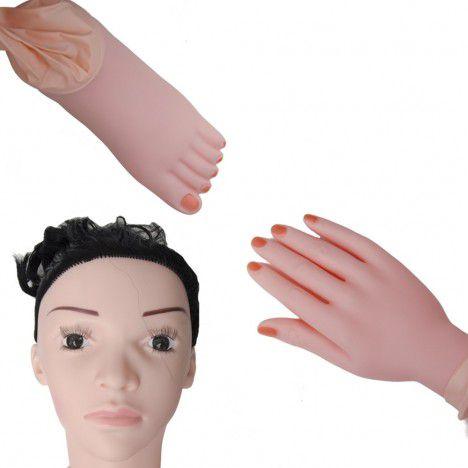Boneca Inflável Completa Cyber Vibro Sensual Love - Sexshop