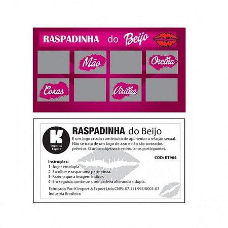 Kit Com 10 Raspadinha do Beijo Erótico - Sexshop