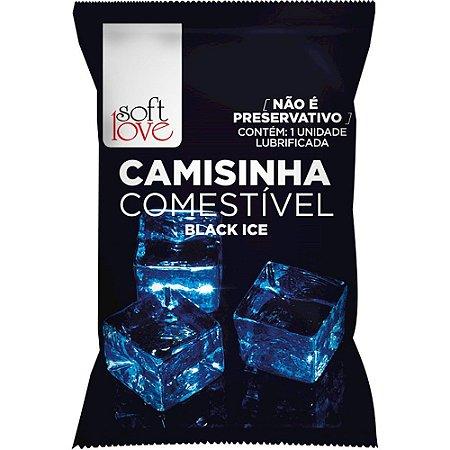 Camisinha Comestível Aromática Black Ice Soft Love - Sex shop