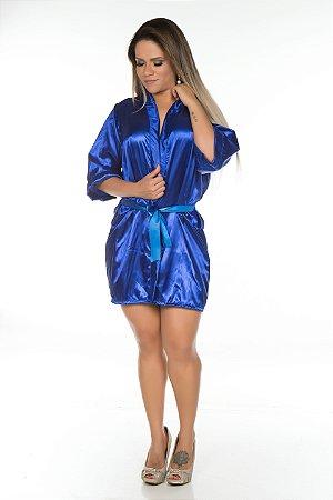 Camisola Robe Cetim Curto Azul Pimenta Sexy - Sex shop