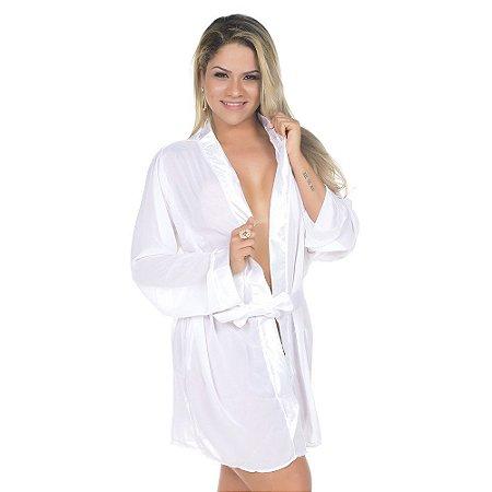 Camisola Robe ROMÂNTICO Branca PIMENTA SEXY - Camisola Sexy