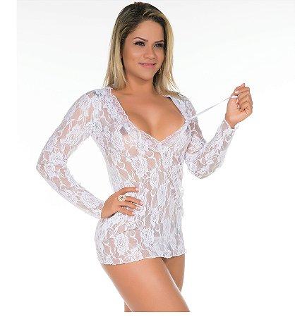 Camisola Sensual Desejo Pimenta Sexy Branca - Camisola Sexy