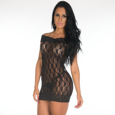 Camisola Sensual Malícia Pimenta Sexy Preta - Sex shop