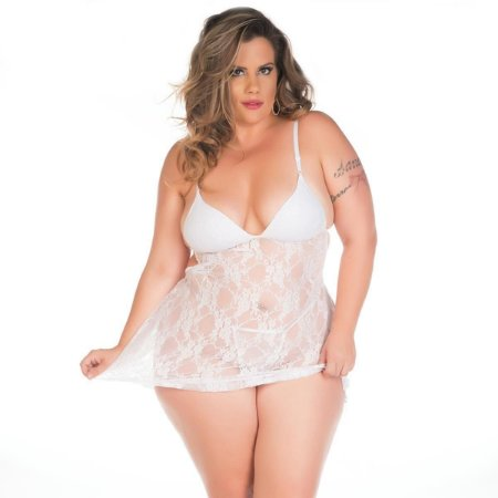 Camisola Sensual Plus Size Jéssica Pimenta Sexy Vermelha - Sex shop