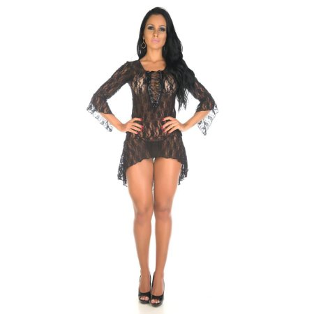 Camisola Sensual Princesa Pimenta Sexy Preta - Sex shop