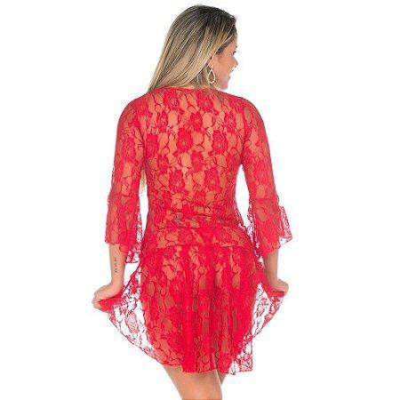 Camisola Sensual Princesa Pimenta Sexy Vermelha - Sex shop
