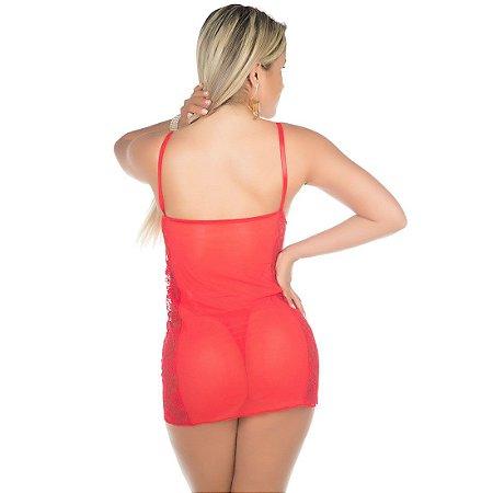 Camisola Sensual Tuane Vermelha Pimenta Sexy - Sexshop