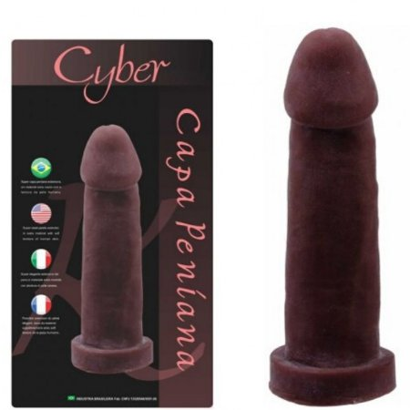 Capa Peniana em Cyber macio 19x4,5cm - COR CHOCOLATE - Sexshop