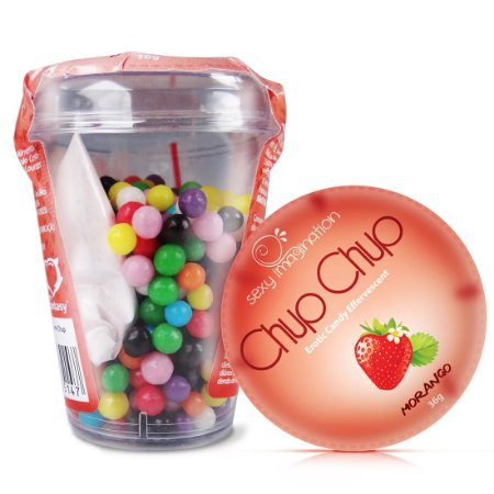Chup Chup Erotic Candy Effervescent Morango Sexy Fantasy - Sexshop
