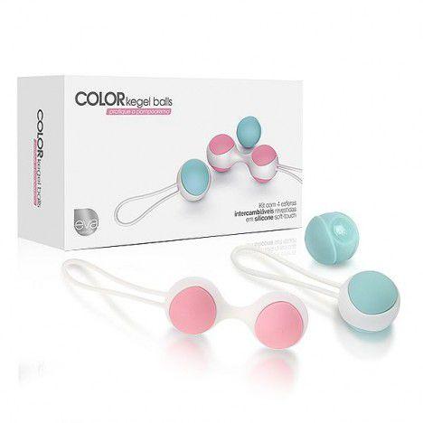 Color Kegel Balls - Bolinhas de pompoar com pesos e cores diferentes - Sexshop