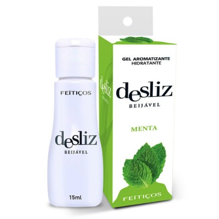Desliz MENTA Gel Beijável Hot 15ml Feitiçoes - Sex shop
