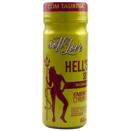 Energético HELLS SEX WOMAN Energy Drink 60ml SoftLove - Sexshop