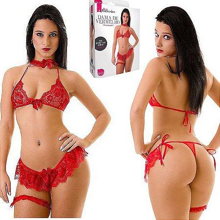 Fantasia Dama de Vermelho - Sexshop