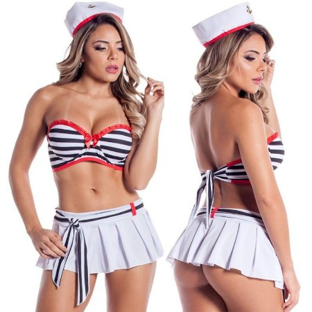 Fantasia Erótica Marinheira Lana Sapeka - Sexyshop