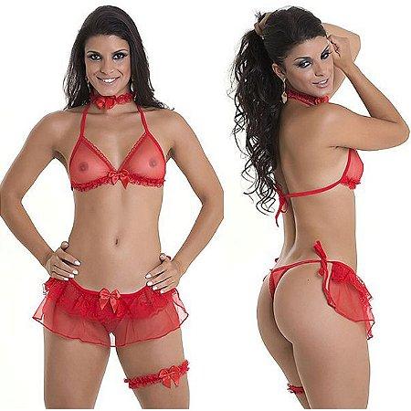 Fantasia Fogo e Paixão - Dama de Vermelho 2 - Sexshop