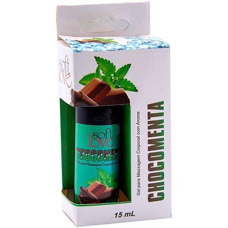 Gel Comestível Ice Chocomenta 15ml SoftLove - Sexshop