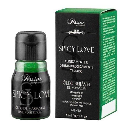 Gel Comestível Spicy Love 15ml Pessini Menta - Sexshop