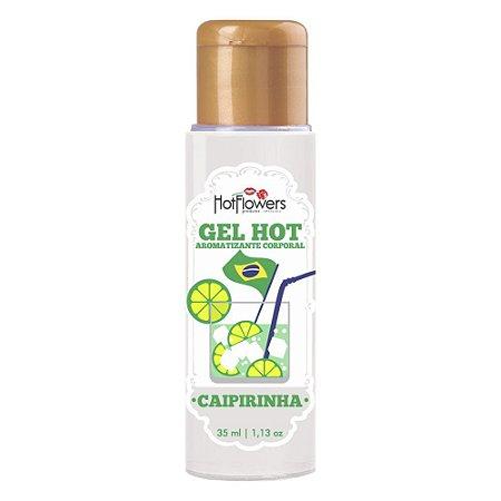 Gel Quente Aromatizante Hot Caipirinha 35ml HotFlowers - Sexshop