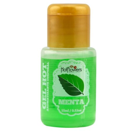 Gel Quente Aromatizante Menta 15ml Hot Flowers - Sex shop