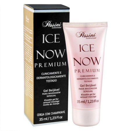 Ice NOW! Premium Gel Gelado Comestível Cereja com champanhe 35ml Pessini - Sex shop