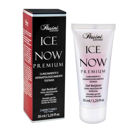Ice NOW! Premium Gel Gelado Comestível Cereja Turquesa 35ml Pessini - Sex shop