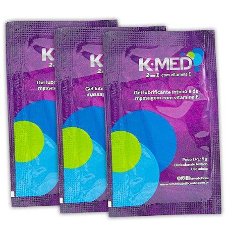 K-Med 2 em 1 Lubrificante Íntimo 03 Sachês CIMED - Sex shop