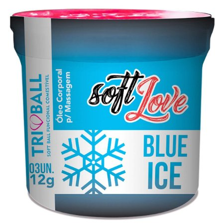 Kit 03 Blue Ice Triball Soft Ball Funcional 03 Un Soft Love - Sex shop