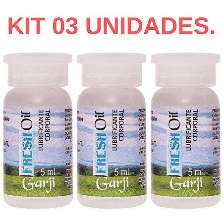 Kit 03 Excitante Fresh Oil Flaconete 5ml Garji -  Sexshop