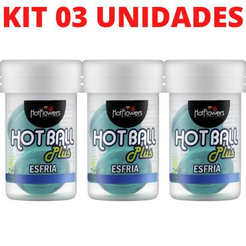 Kit 03 Hotball Plus Bolinha Esfria HotFlowers - Sexshop